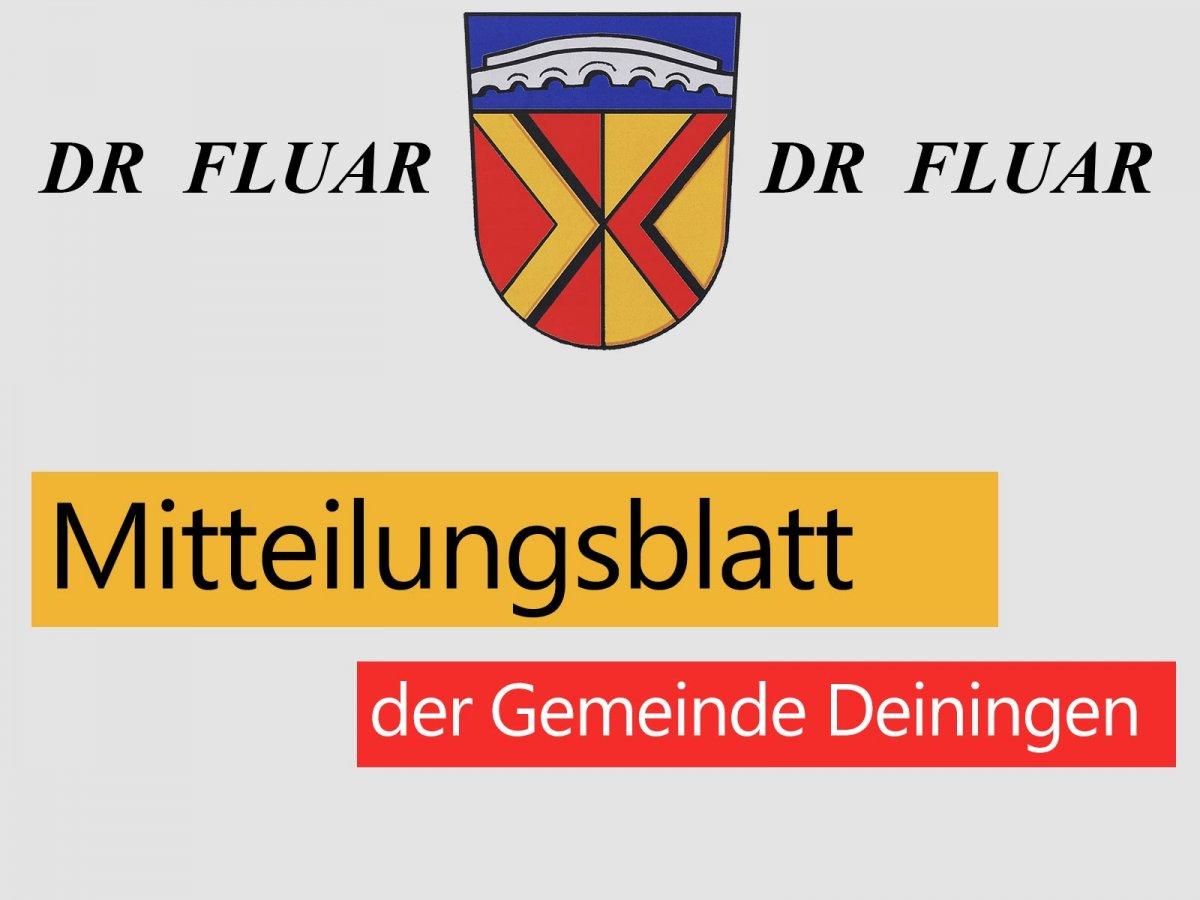Mitteilungsblätter der Gemeinde Deiningen